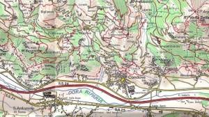 Carta geografica di Condove