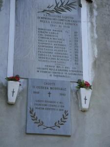 Laietto - Lapide ricordo caduti