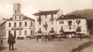 Condove - anno 1928 - la piazza