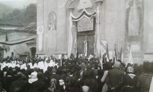 Villa di Mocchie - Anno 1924 - Ingresso nuovo parroco Don Umberto Bonaudo