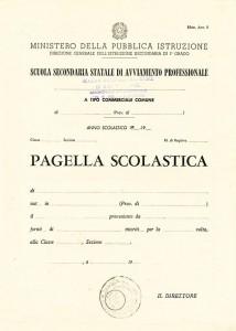 Condove - Pagella Avviamento Industriale in uso nel 1960