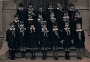 Scuola elementare di Condove - Anno scolastico 1965/66 - Classe II femminile