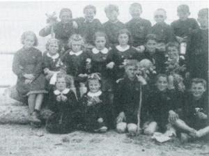 Scuola elementare Borla di Frassinere - Anno scolastico 1949/50 o 1950/51