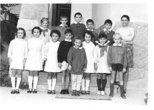 Scuola elementare di Caprie - Anno scolastico 1969/70 - Classe II