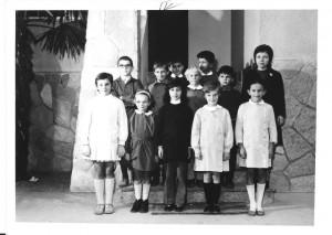 Scuola elementare di Caprie - Anno scolastico 1971/72 - Classe IV