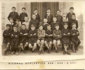 Scuola elementare di Condove - anno scolastico 1938/39 - Classe III