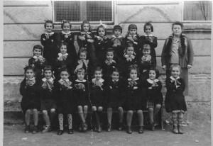 Scuola elementare di Condove - Anno scolastico 1957/58 - Classe I