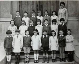Scuola elementare di Condove - Anno scolastico 1971/72 - classe Ia