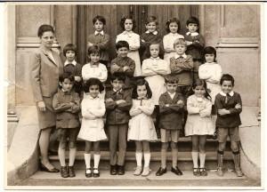 Scuola elementare di Condove - Anno scolastico 1971/72 - Classe I
