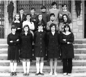 Scuola media di Condove - Anno scolastico 1970/71 - classe IIID