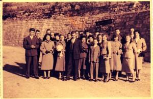 Sposi Pettigiani Domenico e Giuglar Secondina