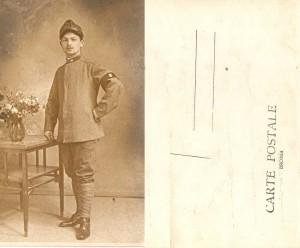Una cartolina postale del 1915 con cui i soldati al fronte comunicavano notizie ai famigliari