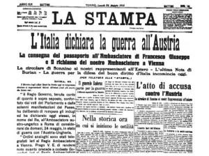 Giornale LA STAMPA del 24/5/1915