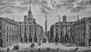 Anno 1749 - Entrata e prospetto della piazza di Porta Palazzo di Torino
