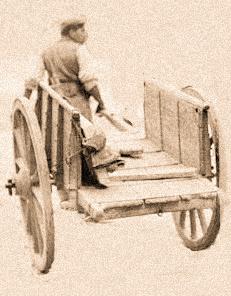 Un carro trainato a mano