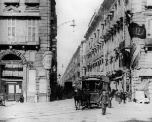 Via Garibaldi, tram trainato da cavallo