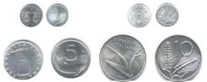 Alcune monetine degli anni 50