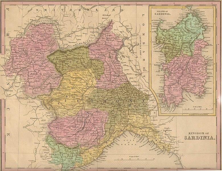 Cartina Antica Sardegna.Suddivisione Amministrativa Degli Stati Sardi Di Terraferma Regno Di Sardegna 1720 1861 Planet Cordola
